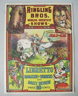 1913 Magazine & Program Of The Ringling Bros. Worlds Greatest Shows Circus