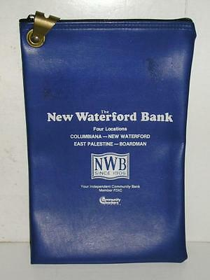 The New Waterford Bank - Four Locations In Ohio - Vinyl Zippered Deposit Bag