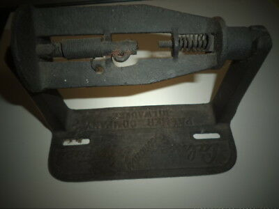 Vintage Cast Iron Toilet paper holder-From a Hotel