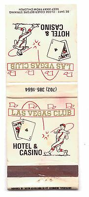 Las Vegas Club--Match Book-Empty-One 1/2 Inches Width-Vintage