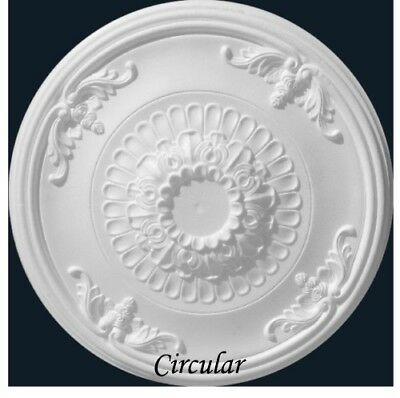 Circular Ceiling Rose Polystyrene Easy Fit Very Light Weight Starting from £18.9