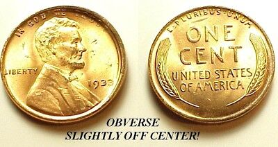 Gem B/u 1933 Lincoln Cent-Ms/red! Great Eye Appeal! Free Shipping !