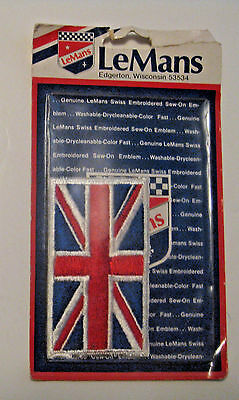 Nos Vintage Motorcycle Biker Great Britain Union Jack Flag Un Sewn Cloth Patch