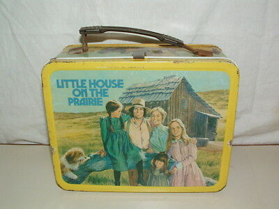 1978 THERMOS brand TIN-LITHO ( LITTLE HOUSE ON THE PRAIRIE   )  LUNCHBOX ONLY