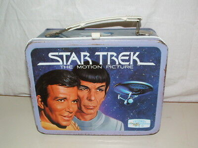 1980 THERMOS brand TIN-LITHO ( STAR TREK THE MOTION PICTURE  )  LUNCHBOX