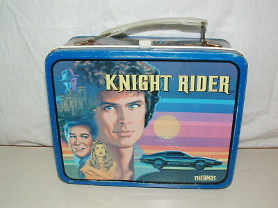 1982 THERMOS brand TIN-LITHO ( KNIGHT RIDER   )  LUNCHBOX