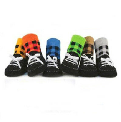 Boys Girls Kids Toddler Baby Socks Anti-slip Slipper Shoelace Shoes Socks
