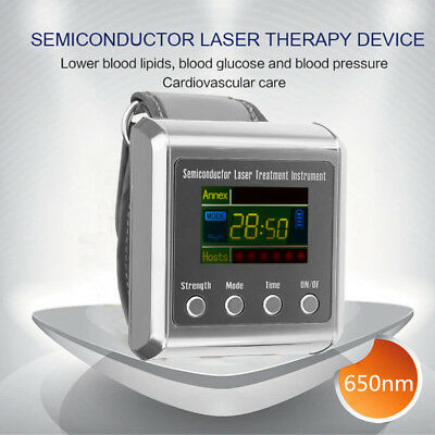650nm Wrist Laser Therapy Apparatus High Fat Blood Watch High Blood Pressure