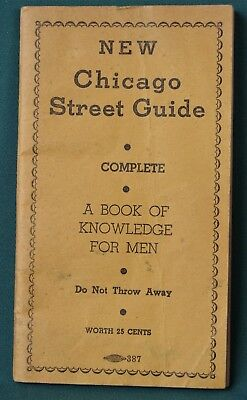 """""""Chicago Street Guide"""" 1934 Venereal Disease Clinic Promo Booklet"""