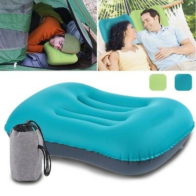 Air Inflatable Pillow Camping & Travel Pillow Headrest Cushion Neck Support Rela