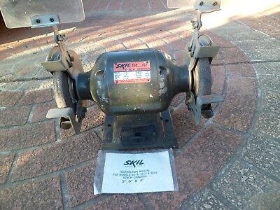 Vintage electric bench grinder