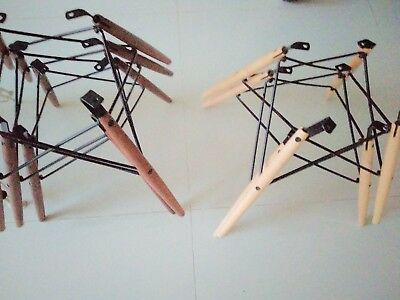ONE(1) authentic Herman Miller Eames WALNUT wire Dowel Base no-shell fiberglass