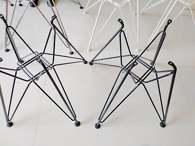 ONE(1) authentic Herman Miller Eames BLACK wire Eiffel Base no-shell fiberglass