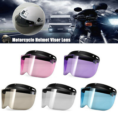 Retro Open Face 3 Snap Flip Up Visor Face Shield Lens for Motorcycle Helmets AU