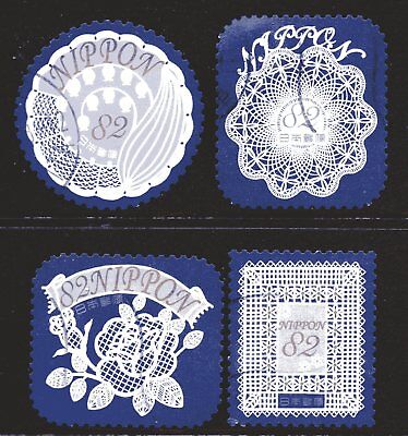Japan 2017 82y Flowers In Daily Life set of 4 Fine Used