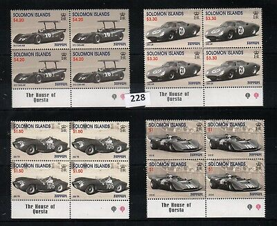Bu 4X Solomon Islands - Mnh - Cars - Sport