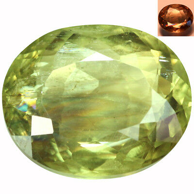 9.14Ct Terrific Oval Cut 14 x 12 mm AAA Color Change Turkish Diaspore
