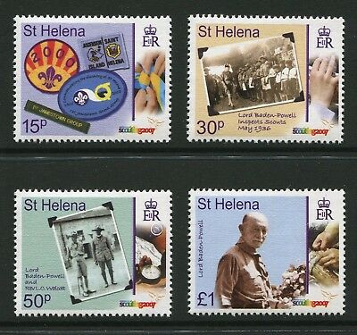 St Helena: 2007 Centenary of Scouting Set of 4 Stamps SG1032-1035 MNH AQ136