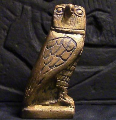 GUARDIAN OF THE NIGHT Egyptian OWL statue figurine ancient replica
