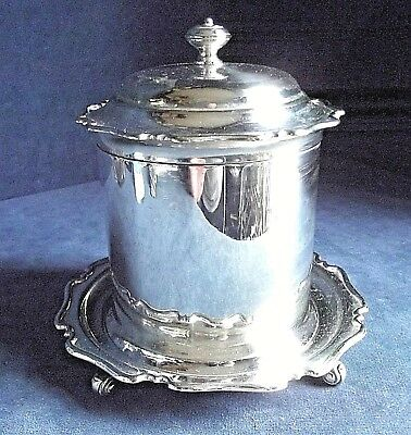 GOOD ~ SILVER Plated ~ GEORGIAN Styled ~ BISCUIT BOX ~ c1900