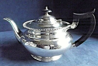 SUPERB Large ~ SILVER Plated ~ Bulbous TEAPOT ~ c1910 by Hawksworth & Eyre