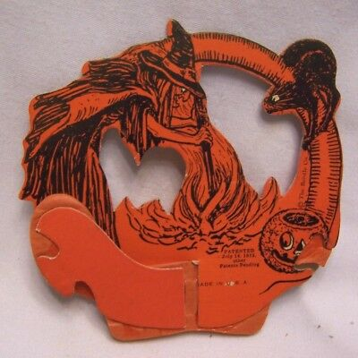 1925 Halloween Wicket Witch Basket Decoration Made in U. S. A.