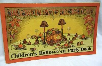1920's Beistle Co. Halloween Party Book Halloween Party Decorations