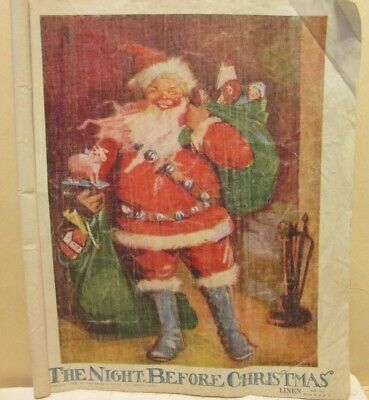 1929 'Night Before Christmas' printed on linen pages