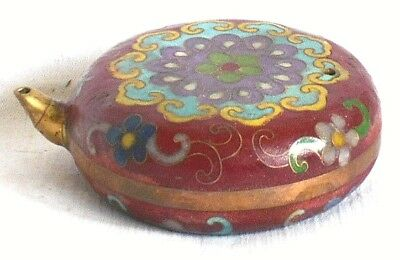 C19Th Chinese Cloisonne Water Dropper With A Geometric Pattern