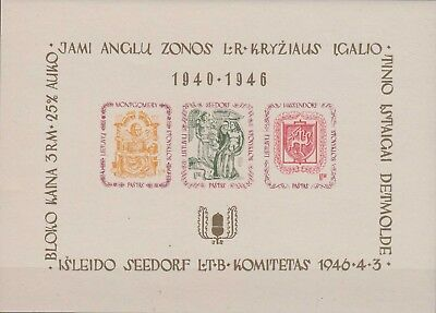 DP Camp Lagerpost Detmold sheetlet with imperf. stamps