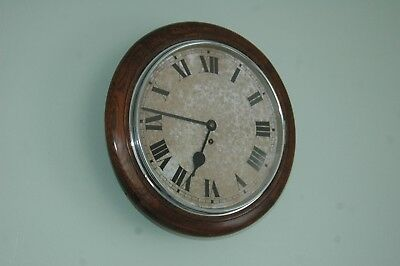 Antique School Wall Clock With Key & Pendulum,40 Cms Diameter.
