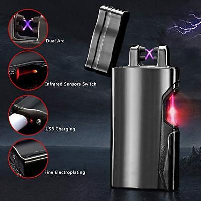 Arc Lighter USB Rechargeable Electric Plasma Ligther Windproof Flameless X Dual