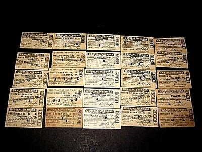 25- Central Vermont, mostly 1930s. Used Railroad Tickets.-Punched, cancelled  sc