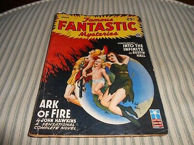 March 1943 Pulp Magazine Famous Fantastic Mysteries Science Fiction Risque NICE!