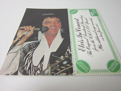 Elvis Ticket Card Photo Bonus 1977 Record Lp Estate Find