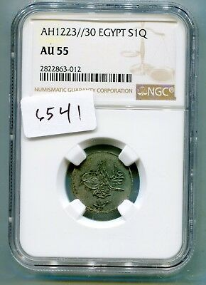 Egypt Qurish 1223 year-30 (1836)  very rare issue NGC AU 55  lotsept6541
