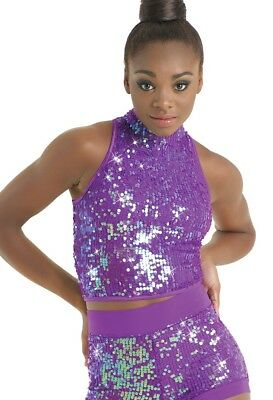 Balera Ultra Sparkle; Purple Top; Intermediate Child Style SQ9601