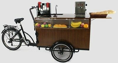Black Mobile Coffee Cart/coffee Bike/food Cart/hot Dog Cart Be Your Own Boss