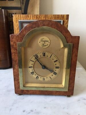 Old  Antique Vintage Small  8 Day  Westminster Mantle Clock