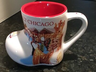 2015 CHRISTKINDLMARKET Chicago Illinois 20th Anniversary Souvenir Boot Mug