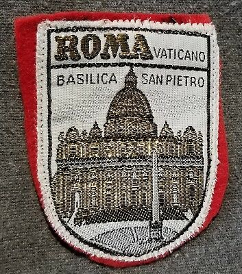 LMH PATCH Badge ROMA Rome ST PIETRO BASILICA Peters Vatican Vaticano Church red