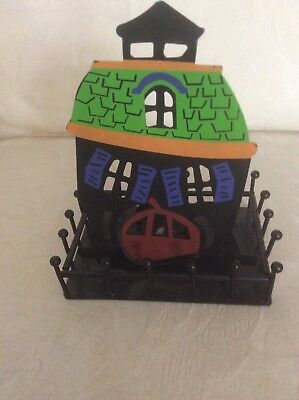 Halloween Aluminum Haunted Mansion Tea Candle Holder