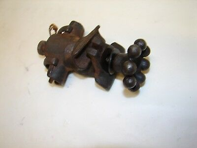 Antique OC White industrial task light knuckle and knob part only p