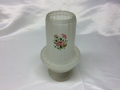 Frosted Vintage Fairy Lamp With Roses