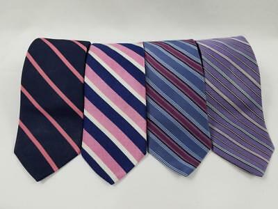 Lot of 4 Brooks Brothers Makers & Merchants 346 Diagonal Stripe Neck Tie Silk