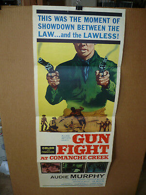 GUNFIGHT AT COMANCHE CREEK, orig 14x36 / movie poster (Audie Murphy) 1963