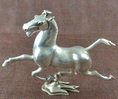 china old cooper-plating silver hand-made horse and swallow statue d02