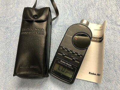 Radio Shack Digital Sound Level Meter, 33-2055 w/ Case and Owner's Manual