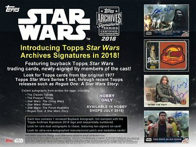 2018 Topps Star Wars Archives Signature Series Factory Sealed Hobby Box Presale!