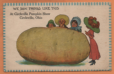 OH Ohio Circleville Pumpkin Show Exaggeration Pickaway County Postcard